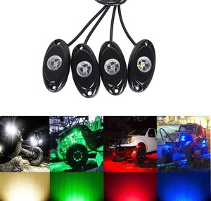 Off Road Araç Altı Led 4Lü Set KIRMIZI