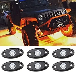 Off Road Araç Altı Led 4Lü Set TURUNCU