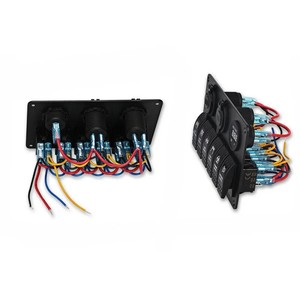 Rock Light Control & USB 12V Panel - 6'lı Rocker Switch