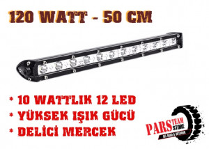 12X10 WATT BEYAZ 12 LED BAR (50 CM)